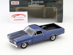Chevrolet El Camino SS 396 jaar 1970 blauw 1:24 MotorMax