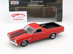 Chevrolet El Camino SS 396 Year 1970 red 1:24 MotorMax