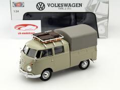 Volkswagen VW Type 2 T1 Pick Up caqui 1:24 MotorMax