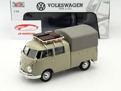 Volkswagen VW Type 2 T1 Pick Up khaki 1:24 MotorMax