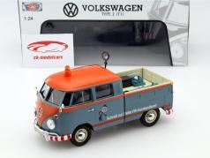 Volkswagen VW Typ 2 T1 VW Customer service orange / blue 1:24 MotorMax