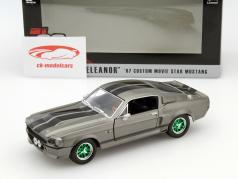 Ford Mustang Shelby GT500 Eleanor Gone in 60 Seconds 2000 cinza escuro / verde 1:24 Greenlight
