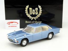 Maserati Quattroporte jaar 1966 blauw 1:18 BoS-Models