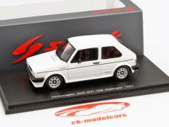 Volkswagen VW Golf GTI 16S Oettinger år 1981 hvid 1:43 Spark