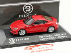 Subaru BRZ STI tS Year 2013 red 1:43 Triple 9