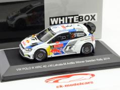 Volkswagen VW Polo R WRC #2 Vinder Rallye Sverige 2014 Latvala, Anttila 1:43 WhiteBox