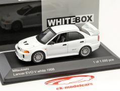 Mitsubishi Lancer Evo V RHD weiß 1:43 WhiteBox