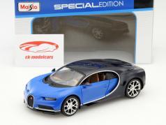 Bugatti Chiron año 2016 azul 1:24 Maisto