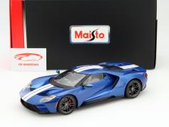 Ford GT Year 2017 blue 1:18 Maisto