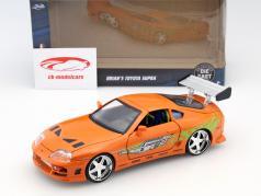 Brian's Toyota Supra 从 该 电影 Fast and Furious 7 2015 橙 1:24 Jada Toys