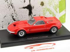 Ford Mach 2 Concept Car ano 1967 vermelho 1:43 AutoCult