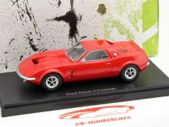 Ford Mach 2 Concept Car year 1967 red 1:43 AutoCult