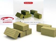 6 conjunto fardos cuadrados 1:32 Wiking