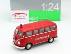 Volkswagen VW Klassisk Bus År 1962 Brandvæsen 1:24 Welly
