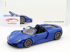 Porsche 918 Spyder saphir blau 1:18 Welly