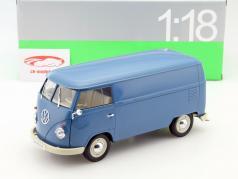 Volkswagen VW T1 Bus år 1963 blå 1:18 Welly