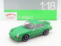 Porsche 911 Carrera RS jaar 1973 groen / zwart 1:18 Welly
