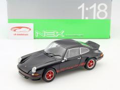 Porsche 911 Carrera RS Baujahr 1973 schwarz / rot 1:18 Welly
