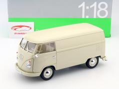 Volkswagen VW T1 Bus år 1963 creme 1:18 Welly