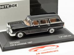 Mercedes-Benz 230 S Universal year 1967 black 1:43 WhiteBox