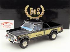 Jeep J10 Honcho Baujahr 1976 schwarz / gold 1:18 BoS-Models