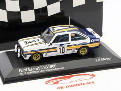 Ford Escort II RS1800 #10 rassemblement Acropolos 1978 Vatanen,Richards 1:43 Minichamps