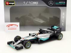 Lewis Hamilton Mercedes F1 W07 Hybrid #44 Formel 1 2016 1:18 Bburago