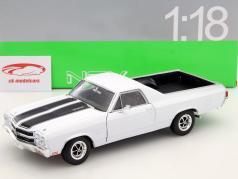 Chevrolet El Camino jaar 1970 wit / zwart 1:18 Welly