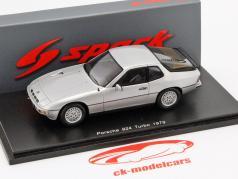 Porsche 924 Turbo ano 1979 prata 1:43 Spark