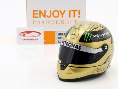 M. Schumacher Mercedes GP formula 1 Spa 2011 gold helmet 1:2 Schuberth