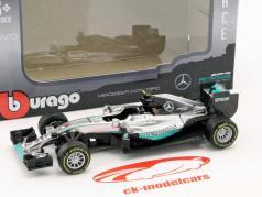 Nico Rosberg Mercedes F1 W07 Hybrid #6 campione del mondo formula 1 2016 1:43 Bburago