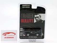 Dodge Charger de o filme Bullitt 1968 preto 1:64 Greenlight