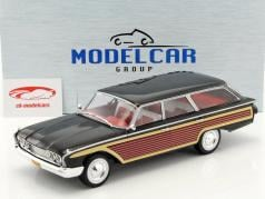 Ford Country Squire with Wood optics black 1:18 Model Car Group