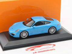 Porsche 911 (991) Carrera S Baujahr 2012 blau 1:43 Minichamps