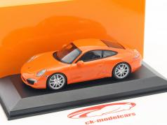Porsche 911 (991) Carrera S année de construction 2012 orange 1:43 Minichamps