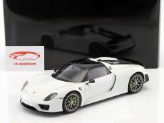 Porsche 918 Spyder Weissach Package anno di costruzione 2013 bianco 1:18 AUTOart