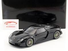 Porsche 918 Spyder anno di costruzione 2013 nero metallico 1:18 AUTOart