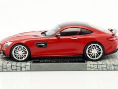 Brabus 600 For GTS jaar 2016 rood 1:18 Minichamps