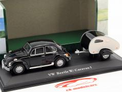 Volkswagen VW Beetle Caravan I black 1:43 Cararama