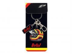 Stefan Bellof key chain helmet red / yellow / black