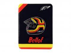 Stefan Bellof Pin casco rosso / giallo / nero