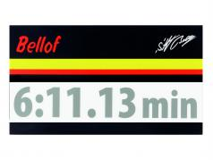Stefan Bellof etiqueta engomada regazo registro 6:11.13 min plata 120 x 25 mm