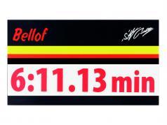 Stefan Bellof autocollant record du tour 6:11.13 min rouge 120 x 25 mm