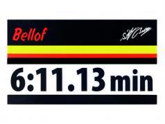 Stefan Bellof etiqueta engomada regazo registro 6:11.13 min negro 120 x 25 mm