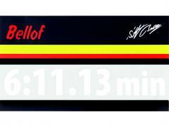 Stefan Bellof Aufkleber Rekordrunde 6:11.13 min weiß 200 x 35 mm