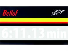 Stefan Bellof etiqueta engomada regazo registro 6:11.13 min blanco 200 x 35 mm