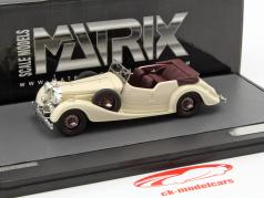 Alvis 4.3 Litre Cross & Ellis converteerbaar open Top jaar 1938 crème wit 1:43 Matrix