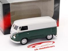 Volkswagen VW T1 van dark green / white 1:43 Cararama