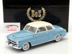 Dodge Coronet Club Coupe Bouwjaar 1952 lichtblauw / wit 1:18 BoS-Models