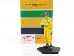 Ayrton Senna bestuurder figuur Winnaar Monaco GP formule 1 1987 1:10 Iron Studios